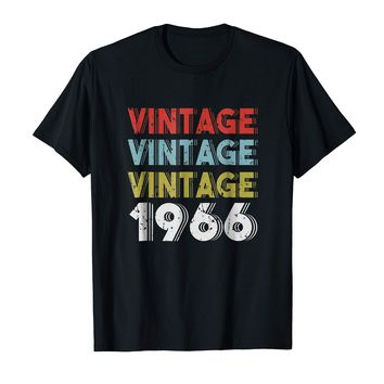 Retro Vintage Born In 1966 - 52nd Birthday Gift