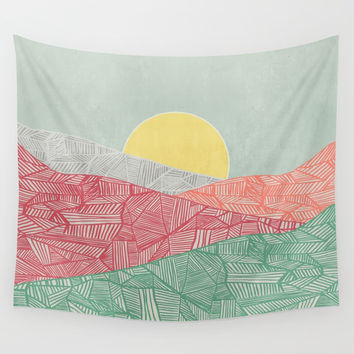 Lines in the mountains 03 Wall Tapestry by vivianagonzlez