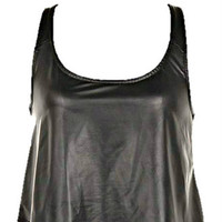 RADD LEATHER CROP TOP TANK ROCKER STYLE