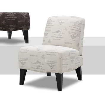 Emerald Home Furnishings U3019B-05-29 Carrie Toulouse Platinum Print Accent Chair