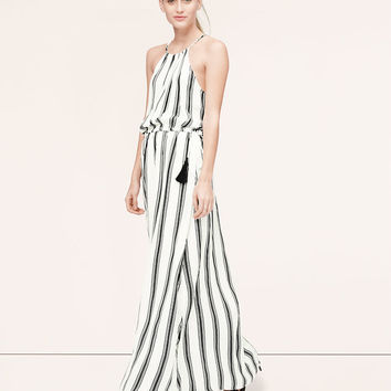 Stripe Tasseled Halter Maxi Dress | LOFT