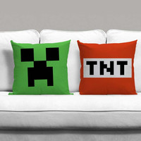Minecraft Couples Square Pillow Covers Pillow Case Gift Couples Case