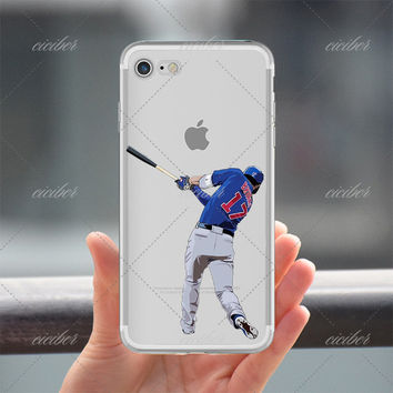 17 Batting Baseball Clear Phone Case for ALL iPhone 7 7Plus 6 6s Plus 5 5s SE