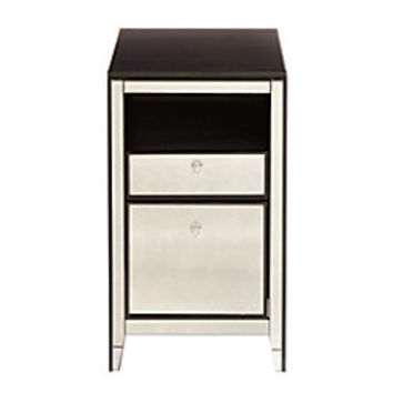 See Jane Work Vivien Laminate Mirrored File Cabinet 2 Drawers 30 H x 18 W x 23 14 D Espresso by Office Depot & OfficeMax