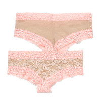 Lace Cheekster Panty - PINK - Victoria's Secret