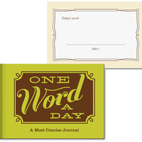 $12.99 ONE WORD A DAY JOURNAL -Perpetual Kid