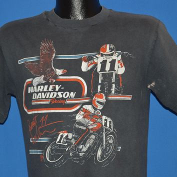 80s Harley Davidson Scott Parker Racing t-shirt Medium