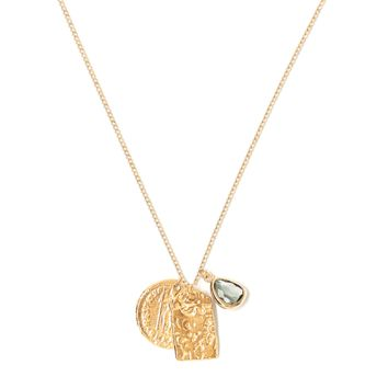 Tess and Tricia Lyra Gray Charm Trio Necklace