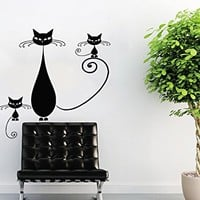 Cat Wall Decal Grooming Salon Decals Vinyl Stickers Animal Petshop Decor Kids Room Nursery Bedroom Wall Art Interior Design Home Decor NS966