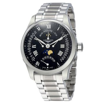 Longines Master Retrograde Seconds Automatic Black Dial Mens Watch L27394516