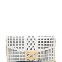 Cut-Out Cage White Envelope Clutch  - Diva Hot Couture
