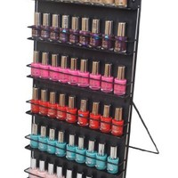 Nail Polish Rack 6 Tier Black (Free Standing or Wall Mount)Expedited shipping now subsidised on all orders. Our Customers Have Asked Us for Faster Delivery so We've Teamed up with Fed-ex. Your Order Will Arrive Within 24-48 Hours of Dispatch. The Well Esta