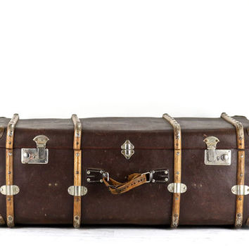 Suitcase XXL,  XXL Vintage Suitcase,  German Suitcase, Trunk Style Suitcase, Vulcanfiber Suitcase, Luggage, Old Suitcase, Old Luggage