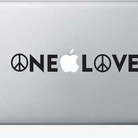 One Love for Laptop Decal Sticker Vinyl Art Bob Marley