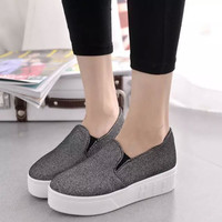 Stylish Hot Deal Hot Sale Comfort Casual On Sale Low-cut Thick Crust Soft Fashion Shoes Sneakers [6050397249]
