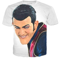 Sneaky Guy From Lazy Town On Shirt