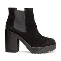 Platform Suede Boots - from H&M