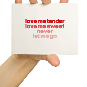 Love Greeting Card Love me tender by TheStationerySisters