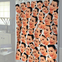 Kim Kardashian Crying Collage shower curtain new model
