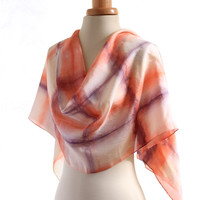 naturally dyed scarf, lilac purple pink, eco dyed silk scarf, logwood madder, geometric print silk, plant dyed shawl, christmas gift for her