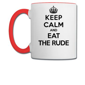 keep calm and eat the rude (Hannibal) - Coffee/Tea Mug