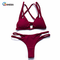 BANDEA bikinis women 2017 halter swimwear swimsuit padded bikini set sexy swimwear female beachwear bathing suit biquini HA013