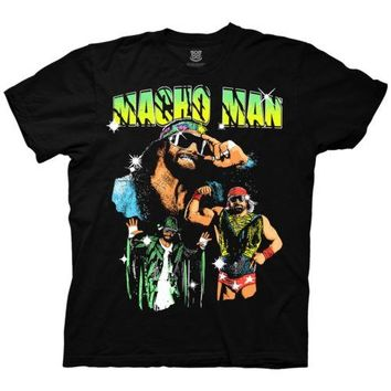WWE Macho Man Randy Savage Collage Wrestling Adult T Shirt