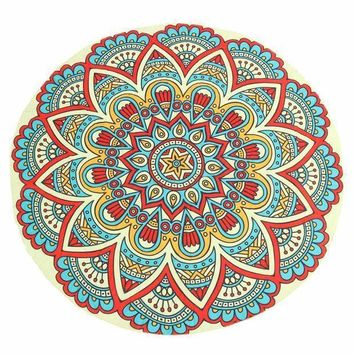 Round Mandala Tapestry Towel Yoga Mat New Fashion Indian Wall Hanging Throw Decor Sun Bath Shawl Tablecloth Home Decor
