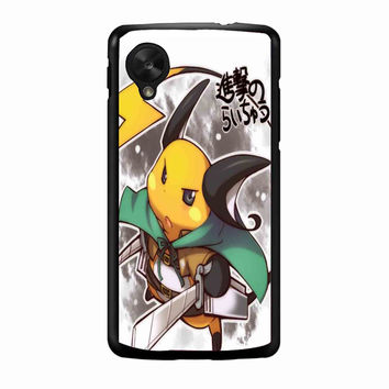 Raichu attack of titans copy FOR NEXUS 5 CASE *RA*