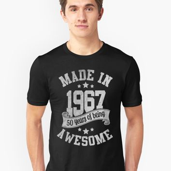 'Made In 1967 Being Awesome' T-Shirt by Dewa Pamungkas