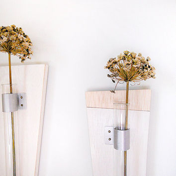 PURE  wall mount flower vase set of 3 simple modern by PIGandFiSH