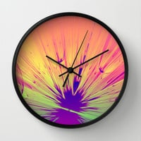 Splat -  Wall Clock by Lyle Hatch @ Society6.com