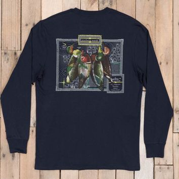 Southern Marsh, Vintage Decoy Collection Tee - Long Sleeve, Navy