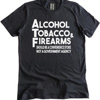 ATF-Alcohol Tobacco & Firearms Premium Dual Blend T-Shirt