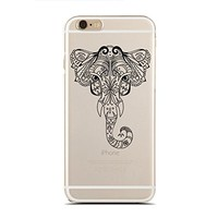 Clear Snap-On case for iPhone 5C - Tribal Elephant - Ethical Elephant (C) Andre Gift Shop