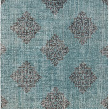 Surya Zahra ZHA4026 Green/Black Medallion and Damask Area Rug