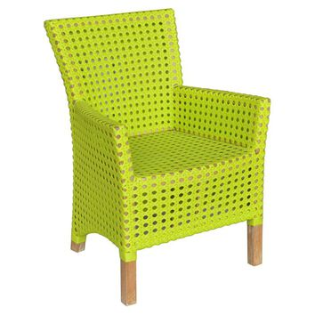 Derby Indoor/Outdoor Teak & Rattan Arm Chair