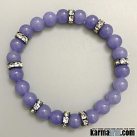 HAPPINESS | Purple Jade | Swarovski | Yoga Chakra Bracelet
