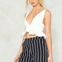 Deep Down Plunging Crop Top