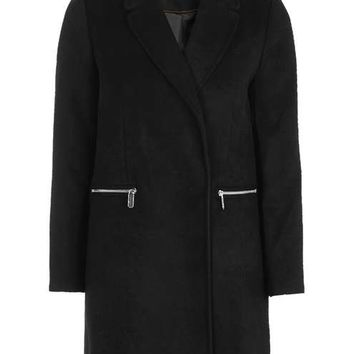 Slim Fit Boyfriend Coat