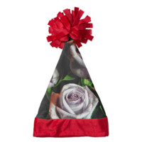 Macro landender Rose Bouquet Santa Hat