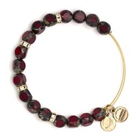 Crimson Eden Beaded Bangle