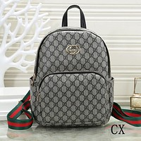 GUCCI Women Fashion Daypack School Bag Leather Backpack