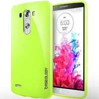 LG G3 Case, Caseology® [Daybreak Series] Slim Fit Shock Absorbent Cover [Lime Green] [Slip Resistant] for G3 - Lime Green