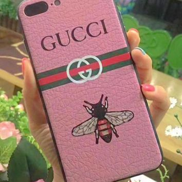 GUCCI Leather Case for iPhone