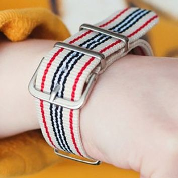 Bracelet - Sea Voyage Nautical Stripe Buckle Strap Band Bracelet