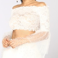 Joseline Long Sleeve Top - White