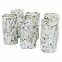 Confetti Glassware - Highball White, Set of 6