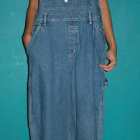 Womens 90s DenimMickey Mouse Bib Overall Pants/ OVERALLS / Jean Overalls / Jean Jumpsuit / Grunge Overalls