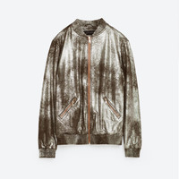 METALLIC BOMBER JACKET DETAILS